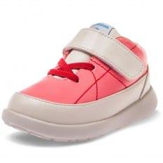 Little Blue Lamb - Zapatos de suela de goma blanda OG niñas | Zapatillas de deporte rosa