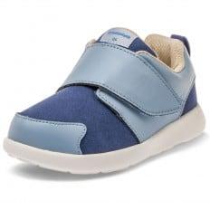 Little Blue Lamb - Zapatos de suela de goma blanda OG niños | Zapatillas de deporte azul