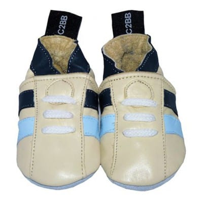 Soft leather baby shoes boys | Beige sneakers
