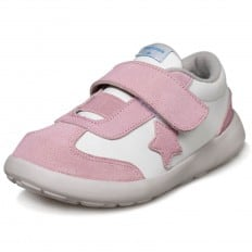 Little Blue Lamb - Soft sole girls toddler kids baby shoes OG | Pink sneakers with star
