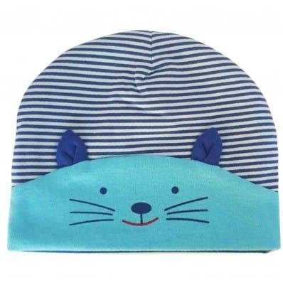 C2BB - cappello del bambino gattino - one size | Azzurro