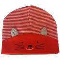C2BB - Capo del bebé gatito - Talla única | Rojo y gris