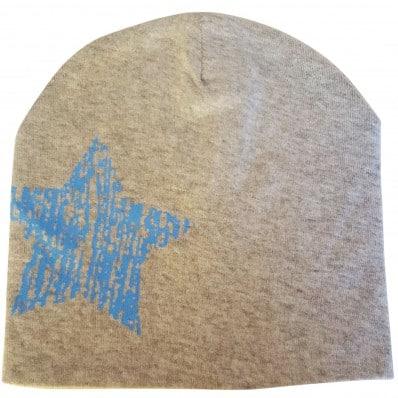 C2BB - Baby hat - one size | Grey blue star