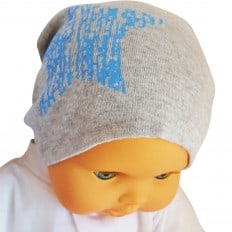 C2BB - Baby hat - one size | Grey blue star