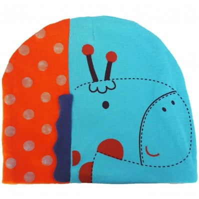 C2BB - Giraffa bambino cappello - singolo taglia | Blu e arancione