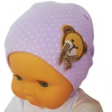 C2BB - Teddybär - Baby-Hut - eine Größe | Lila
