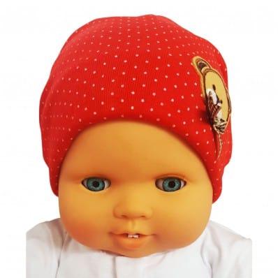 C2BB - Teddybär - Baby-Hut - eine Größe | Rot