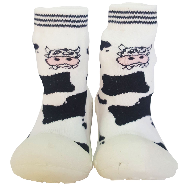 2650b7f6b Chaussons-chaussettes antidérapants VACHE