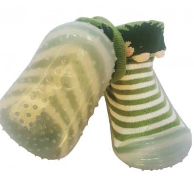 Calcetines con suela antideslizante para niñas   Erizo