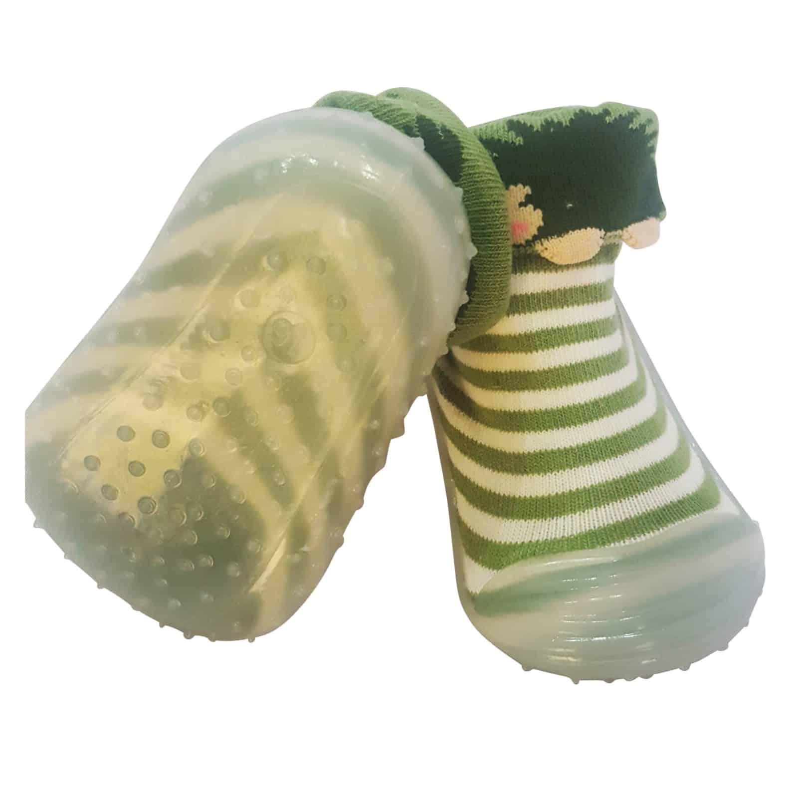 873575167348e Chaussons-chaussettes enfant antidérapants semelle souple