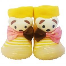 Scarpine calzini antiscivolo bambini - ragazza | Farfallino orso