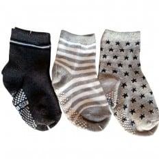 3 paia di calzini antisdrucciolo bambino di 1 a 3 anni | Ragazzo 21