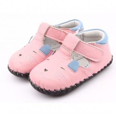 Chaussures premiers pas cuir souple Babies PETITE SOURIS