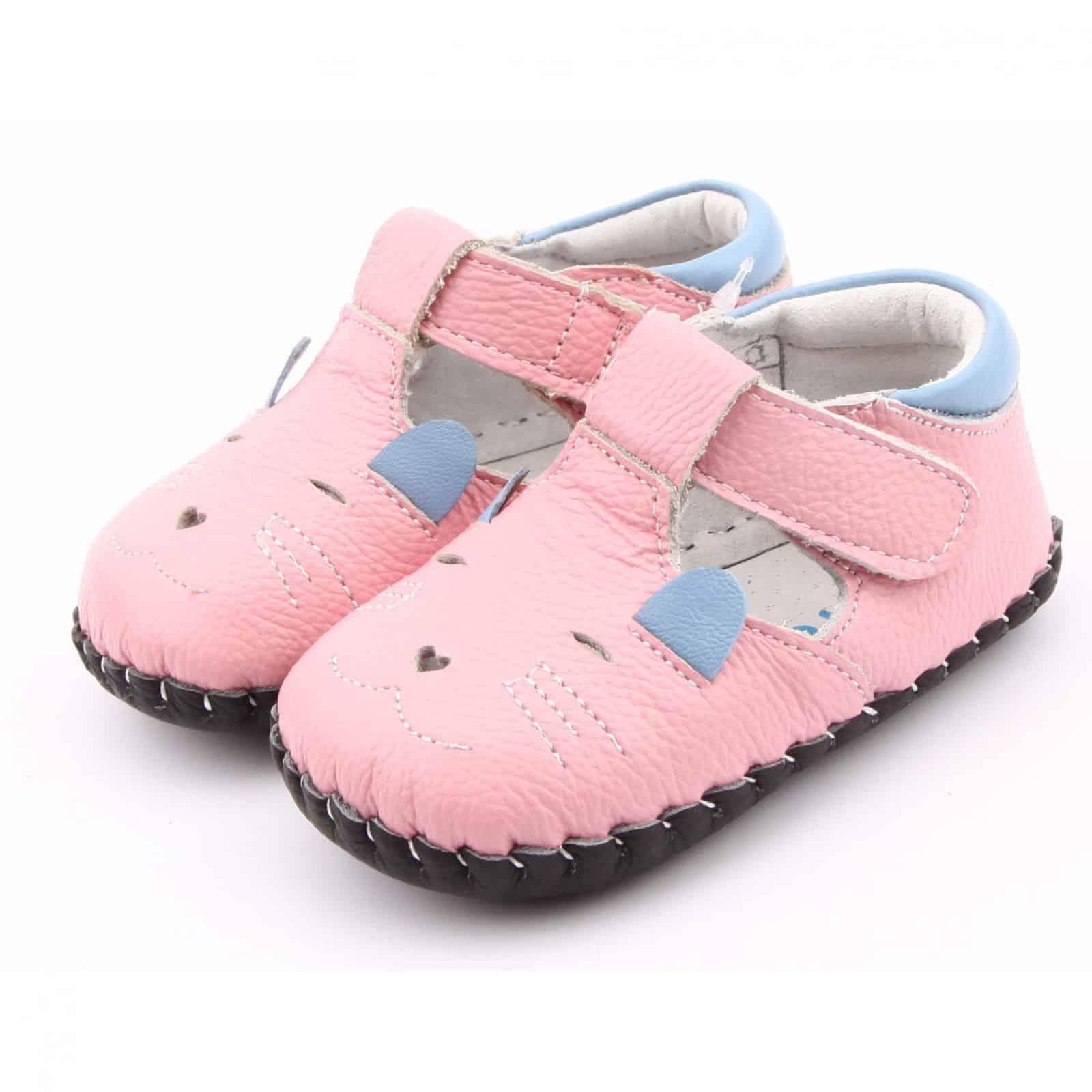c774b265baa0a Chaussures premiers pas cuir souple Babies PETITE SOURIS