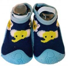 Chaussons-chaussettes enfant antidérapants semelle souple | Mini Eléphant