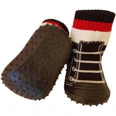Baby boys Socks shoes with grippy rubber | Black sneakers