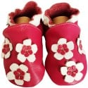 Soft leather baby shoes girls | Nice pink flower