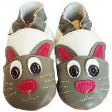 Zapitillas de bebe de cuero suave niños antideslizante | Conejo