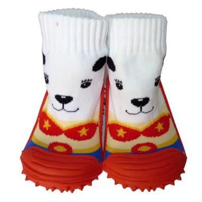Hausschuhe - Socken Baby Kind geschmeidige Schuhsohle Mädchen | Kleiner Zirkushund