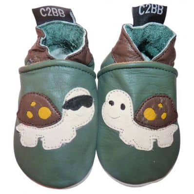 Soft leather baby shoes boys | Turtle