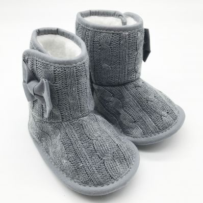 Bottines fourrées tricotées