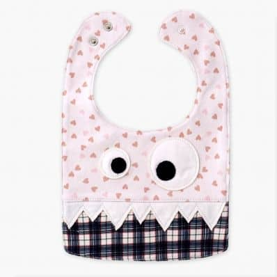 Baby boy Embroidered bibs   Cow