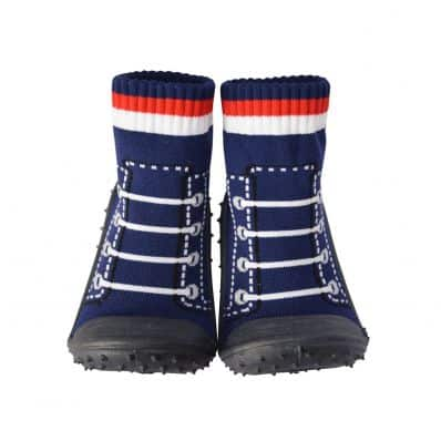 Calcetines con suela antideslizante para niños | Zapatillas de deporte azul marino