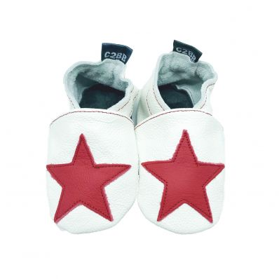 Chaussons cuir souple STAR RED