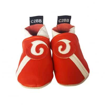 Chaussons en cuir souple spirale C2BB - chaussons, chaussures, chaussettes pour bébé