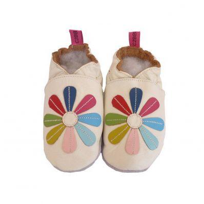 Chaussons en cuir souple MARGUERITE C2BB - chaussons, chaussures, chaussettes pour bébé