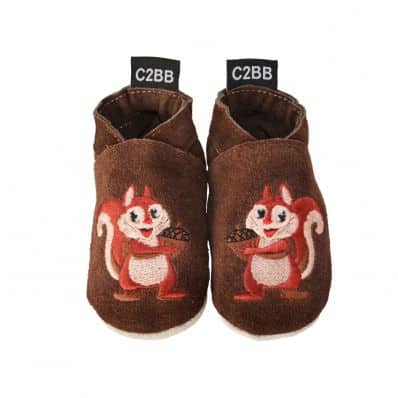 Soft velvet leather baby shoes boys | Squirrel