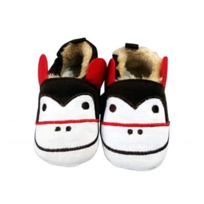 Soft cotton baby girls shoes   Monkey
