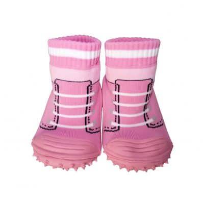 Calcetines con suela antideslizante para niñas | Zapatillas de deporte rosa