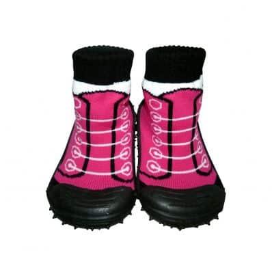 Scarpine calzini antiscivolo bambini - ragazza | Fushia