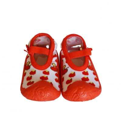 Hausschuhe - Socken Baby Kind geschmeidige Schuhsohle Mädchen | Ballerinas Kirschen
