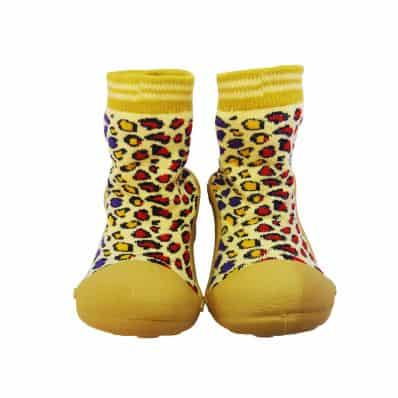 Chaussons-chaussettes antidérapants LEOPARD
