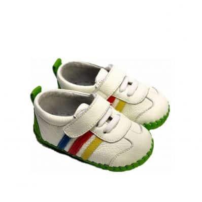 Chaussures premiers pas cuir souple baskets