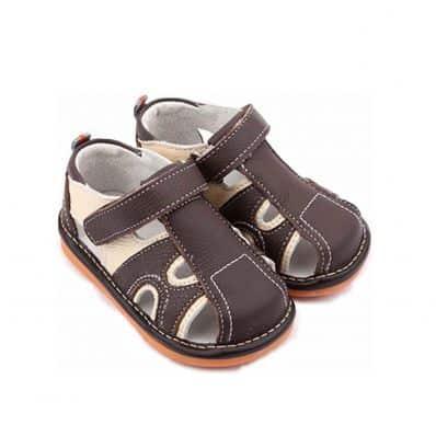 Chaussures semelle souple Sandales bicolores