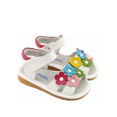 Chaussures semelle souple Sandales à fleurs colorées