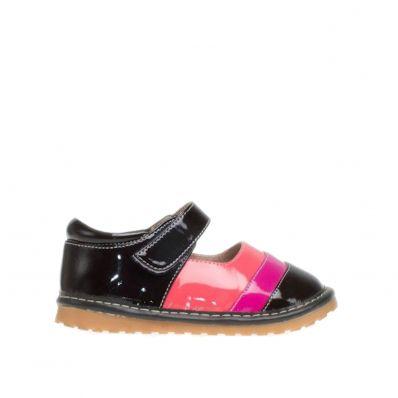 Chaussures semelle souple vernis rayées C2BB - chaussons, chaussures, chaussettes pour bébé