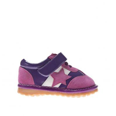 Little Blue Lamb - Scarpine bimba primi passi con fischietto | Colore rosa ed imporpora scarpe da ginnastica di stella