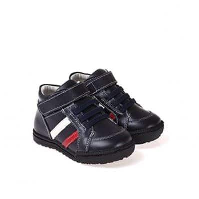 Chaussures semelle souple montantes fourrées à bandes