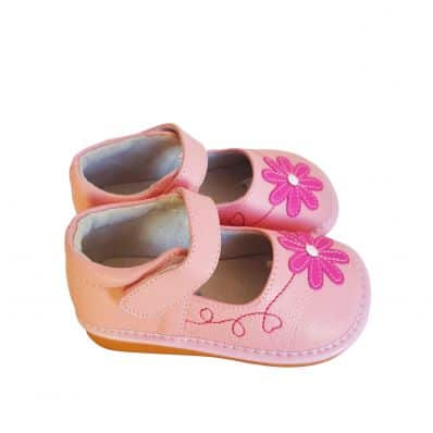 FREYCOO - Squeaky Leather Toddler Girls Shoes | Pink shoes