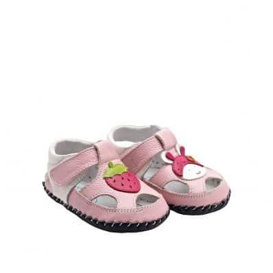 YXY - Zapatos de bebe primeros pasos de cuero niñas | Fresa