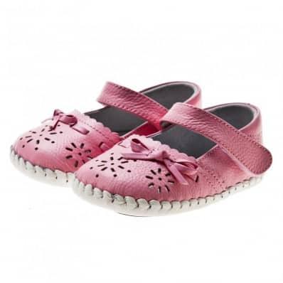 Little Blue Lamb - Chaussures premiers pas cuir souple | Sandales rose cérémonie