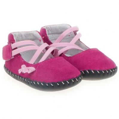 Little Blue Lamb - Chaussures premiers pas cuir souple | Ballet rose
