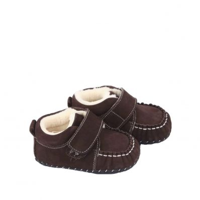 Chaussures premiers pas cuir souple fourrées COLA
