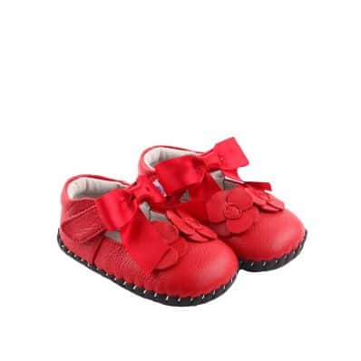 Chaussures premiers pas cuir souple RED RIBBON