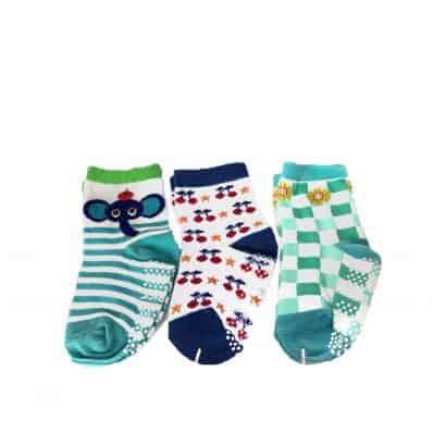 3 paia di calzini antisdrucciolo bambino di 1 a 3 anni | Ragazza 19