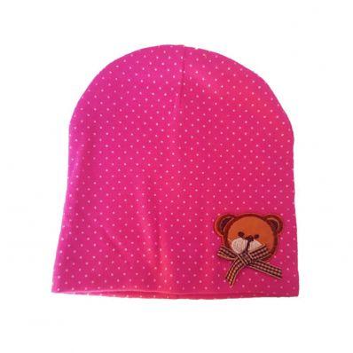 C2BB - Baby hat teddy bear- one size | Fushia